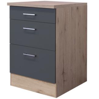 Asko Dolní kuchyňská zásuvková skříňka Tiago USA60, dub sonoma/šedá, šířka 60 cm