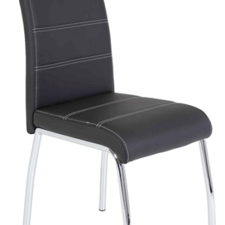 Asko Jídelní židle Susi, černá ekokůže