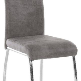 Asko Jídelní židle Susi, šedá vintage látka