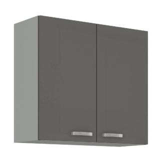 Asko Horní kuchyňská skříňka Grey 80G-72, 80 cm
