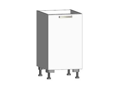 Asko Dolní kuchyňská skříňka One ES45, levá, bílý lesk, šířka 45 cm