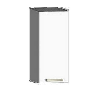 Asko Horní kuchyňská skříňka One EH30, levá, bílý lesk, šířka 30 cm