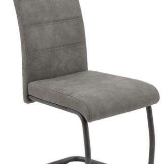 Asko Jídelní židle Flora 4, šedá vintage látka