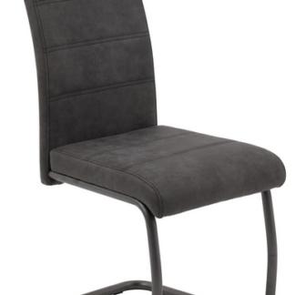 Asko Jídelní židle Flora 4, antracitová vintage látka