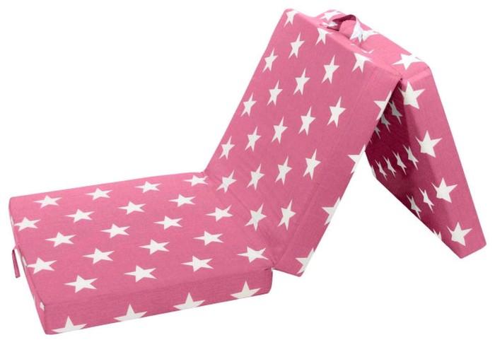 Asko Skládací matrace Samba, růžová se vzorem hvězd