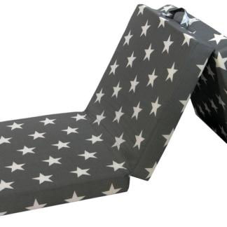 Asko Skládací matrace Samba, šedá se vzorem hvězd