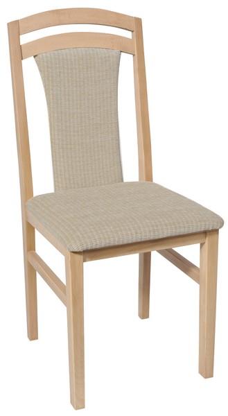 Asko Jídelní židle Sylva, buk/béžovo-krémová tkanina