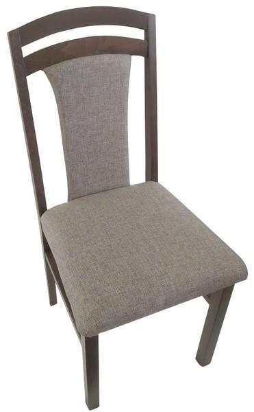 Asko Jídelní židle Sylva, palisandr/béžová tkanina