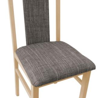 Asko Jídelní židle Michaela, buk/hnědo-béžová tkanina
